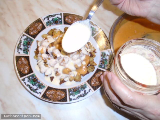 Μεξικάνικες πατάτες με λιωμένο τυρί τσένταρ, σκόρδο και κύμινο - Βήμα 23