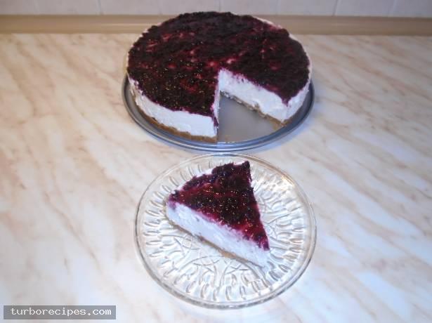 Cheesecake με μαρμελάδα κεράσι