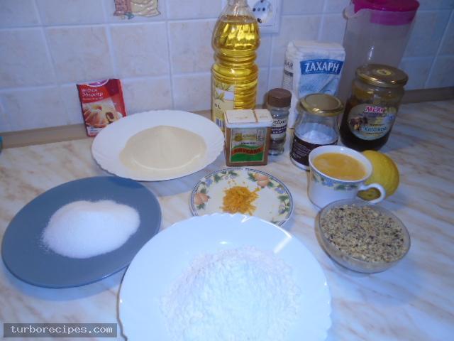 Σπιτικά μελομακάρονα - Υλικά συνταγής