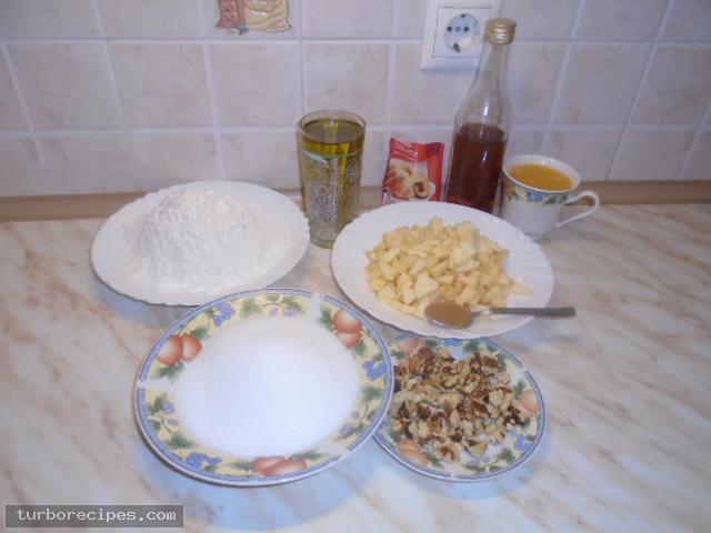 Νηστίσιμο κέικ με μήλα - Βήμα 1