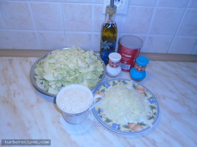 Λαχανόρυζο - Βήμα 1