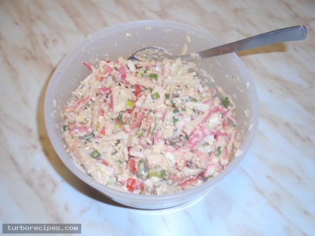 Καβουροσαλάτα με σουρίμι καβουριού - Βήμα 10