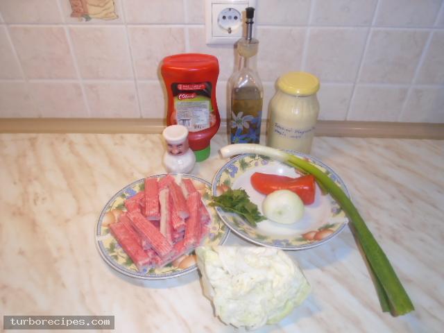 Καβουροσαλάτα με σουρίμι καβουριού - Υλικά συνταγής