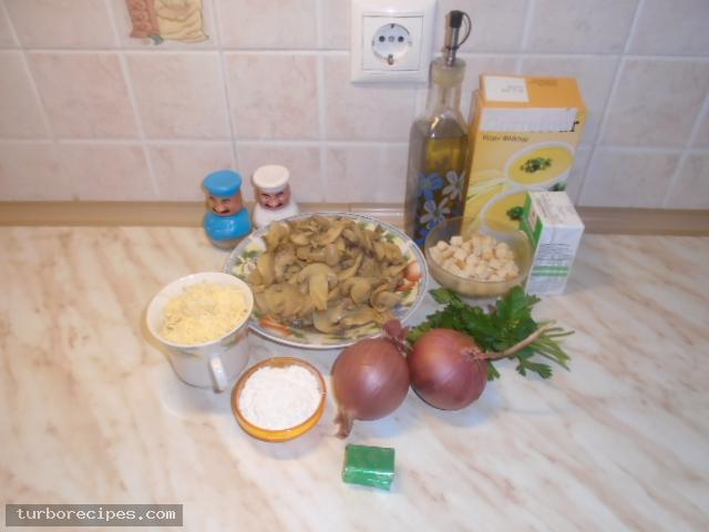 Μανιταρόσουπα βελουτέ - Υλικά συνταγής