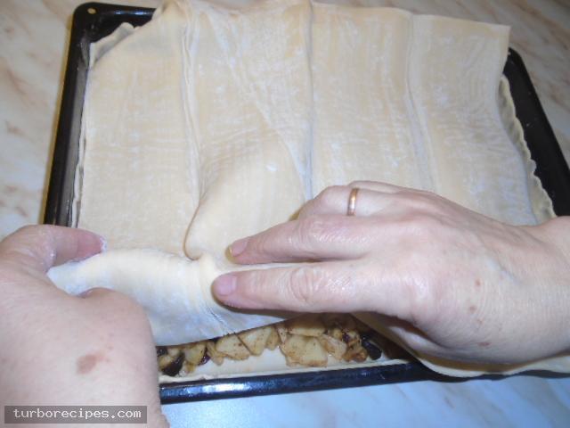 Μηλόπιτα με φύλλο σφολιάτας - Βήμα 14
