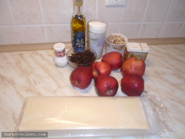 Μηλόπιτα με φύλλο σφολιάτας - Υλικά συνταγής