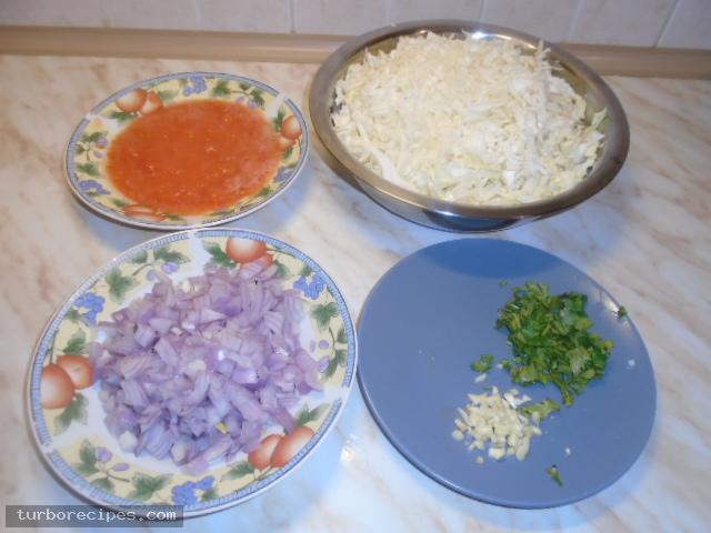 Λαχανόσουπα - Βήμα 1