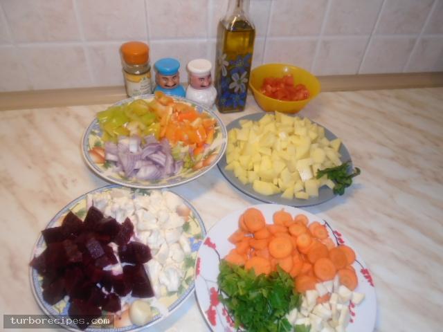 Χορτόσουπα - Βήμα 1