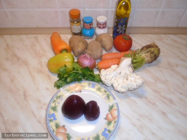 Χορτόσουπα - Υλικά συνταγής