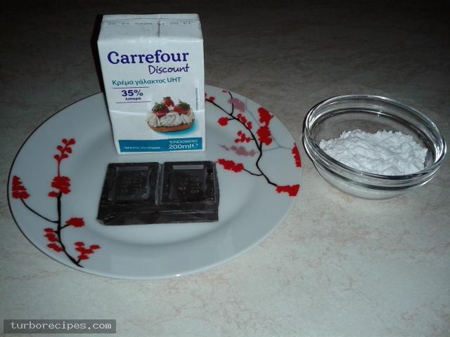 Μους σοκολάτας - Υλικά συνταγής