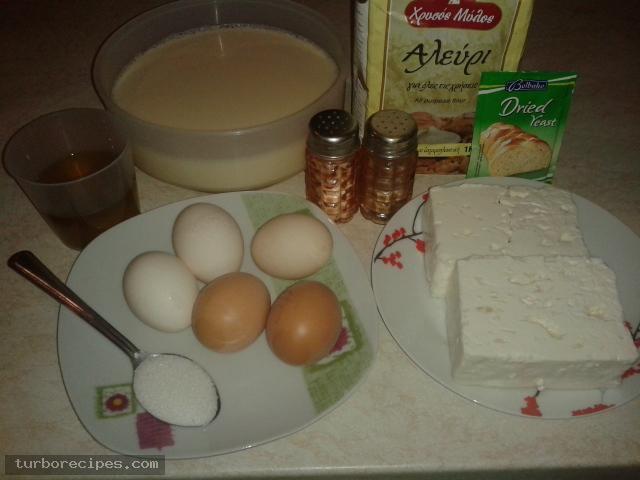 Ζυμαρίνα ανεβατή Θεσσαλίας - Υλικά συνταγής