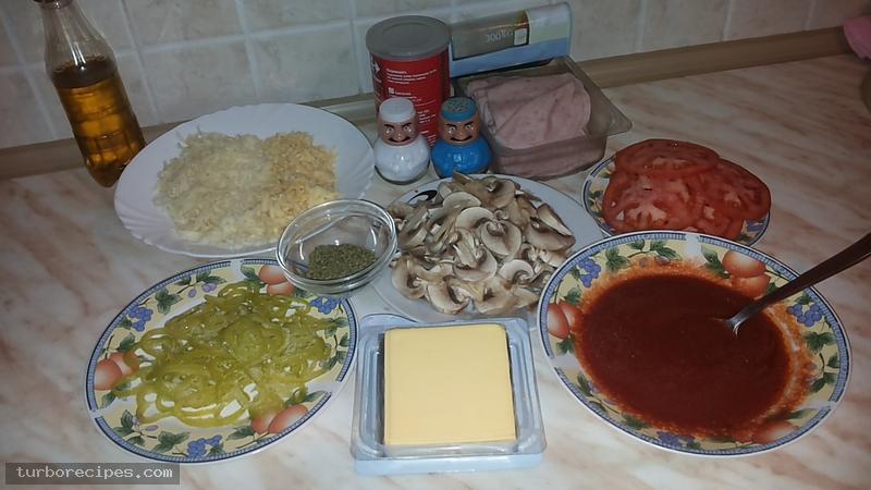 Σπιτική πίτσα - Υλικά συνταγής