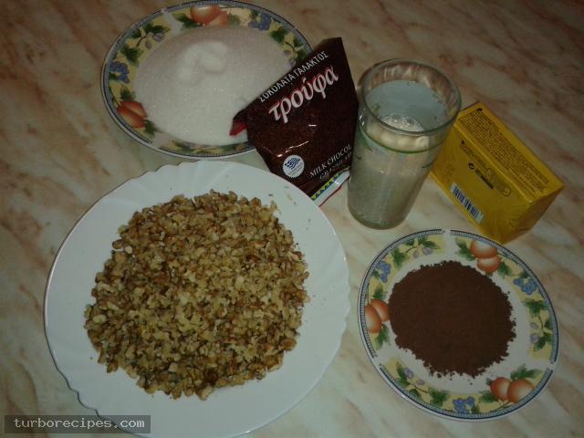 Φοντάν - Υλικά συνταγής