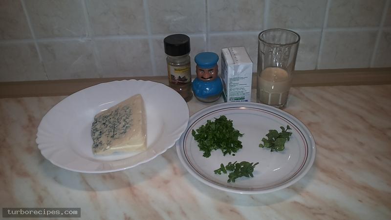 Σάλτσα ροκφόρ - Υλικά συνταγής