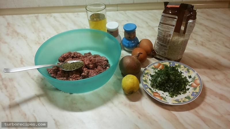 Γιουβαρλάκια αυγολέμονο - Υλικά συνταγής