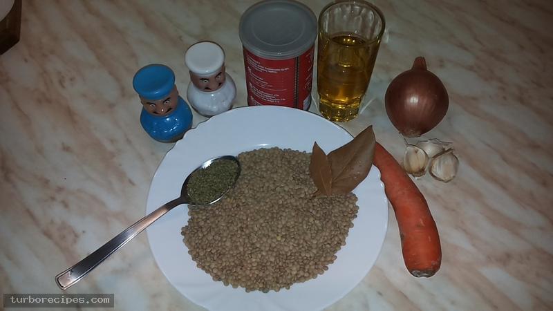 Φακές - Υλικά συνταγής