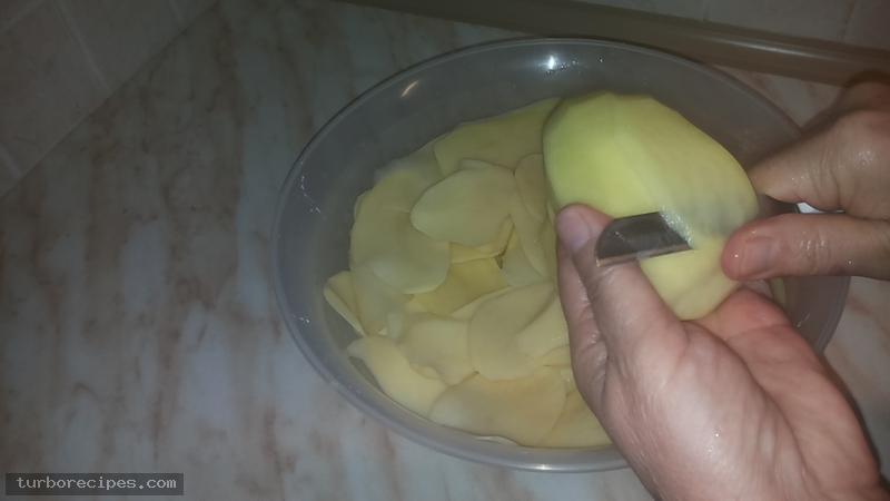 Πατάτες ντοφινουάζ - Βήμα 1