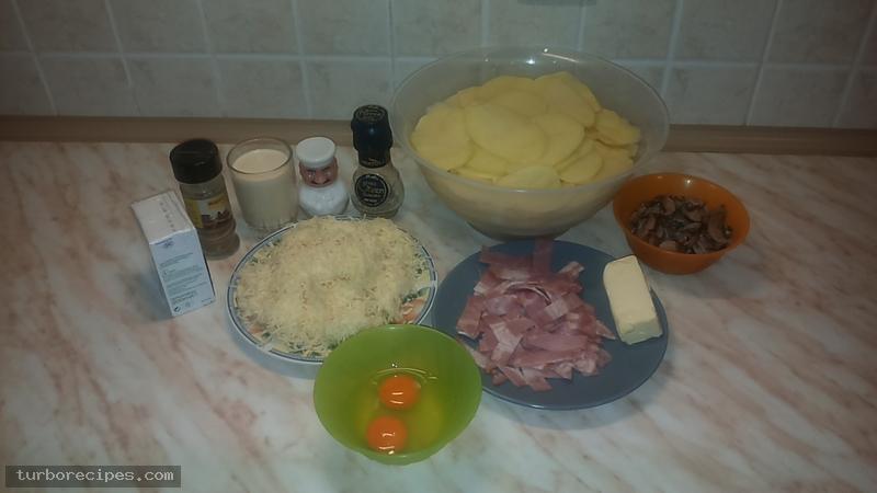 Πατάτες ντοφινουάζ - Υλικά συνταγής