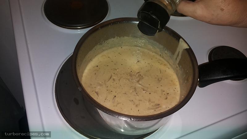 Λευκή σάλτσα με κρέμα γάλακτος - Βήμα 10