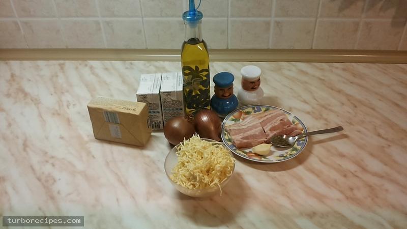 Λευκή σάλτσα με κρέμα γάλακτος - Υλικά συνταγής