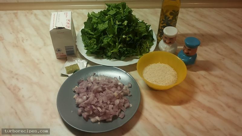 Σπανακόρυζο - Υλικά συνταγής