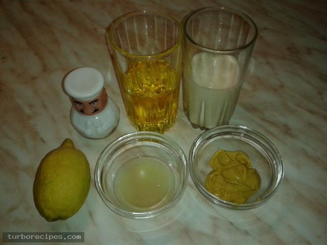 Εύκολη μαγιονέζα χωρίς αυγά - Υλικά συνταγής