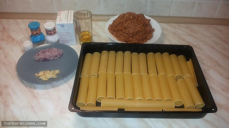 Κανελόνια με κιμά σόγιας - Υλικά συνταγής