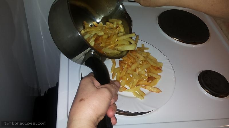 Τηγανιτές πατάτες - Βήμα 6