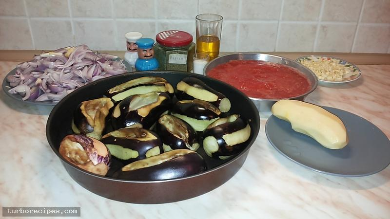 Ιμάμ μπαϊλντί - Υλικά συνταγής