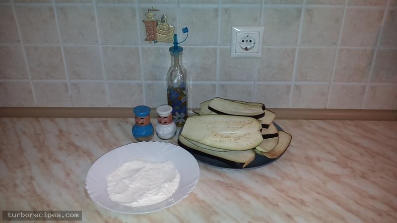 Τηγανιτές μελιτζάνες - Υλικά συνταγής