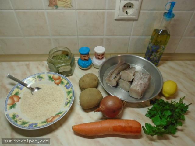 Ψαρόσουπα - Υλικά συνταγής