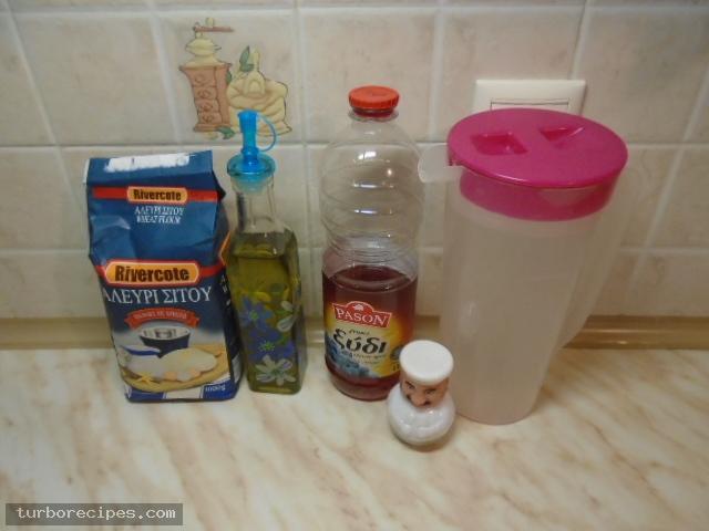 Χωριάτικο φύλλο για πίτες ή γλυκά - Υλικά συνταγής