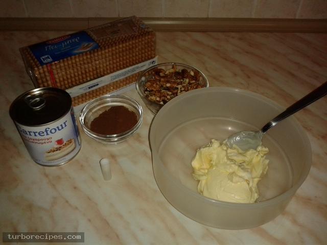 Εύκολος κορμός ψυγείου χωρίς μαγείρεμα - Υλικά συνταγής
