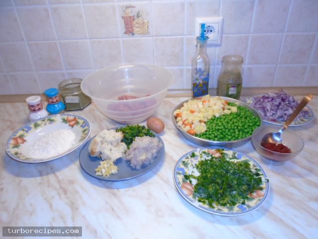Αρακάς με μπιφτέκια - Βήμα 1