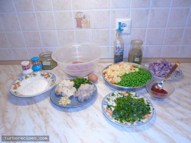 Αρακάς με μπιφτέκια - Υλικά συνταγής