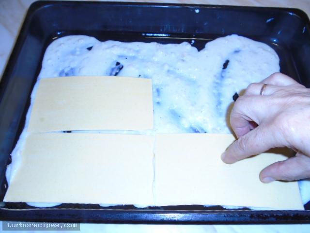 Λαζάνια με μανιτάρια και λευκή κρέμα - Βήμα 22