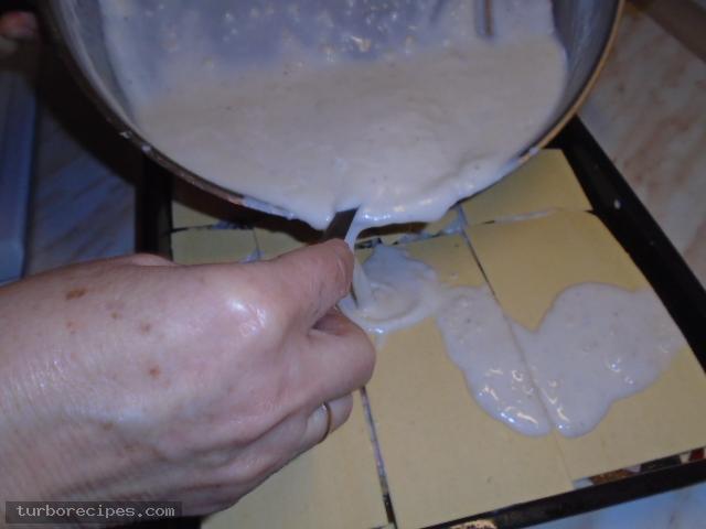 Λαζάνια με μανιτάρια και λευκή κρέμα - Βήμα 29