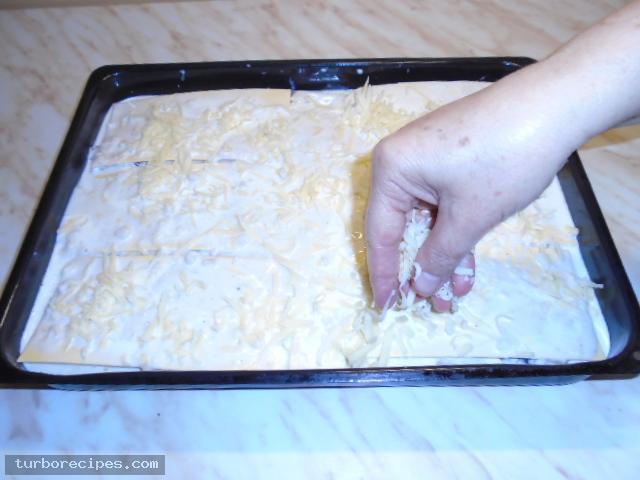 Λαζάνια με μανιτάρια και λευκή κρέμα - Βήμα 31