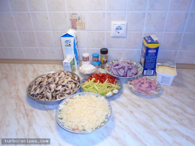 Λαζάνια με μανιτάρια και λευκή κρέμα - Υλικά συνταγής