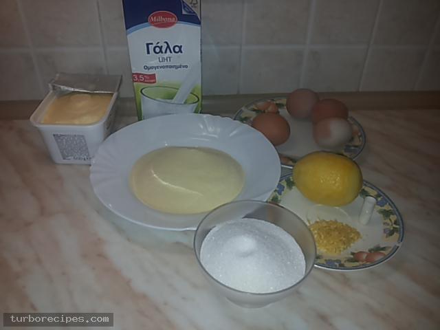 Γαλακτομπούρεκο με σπιτικό φύλλο - Υλικά συνταγής